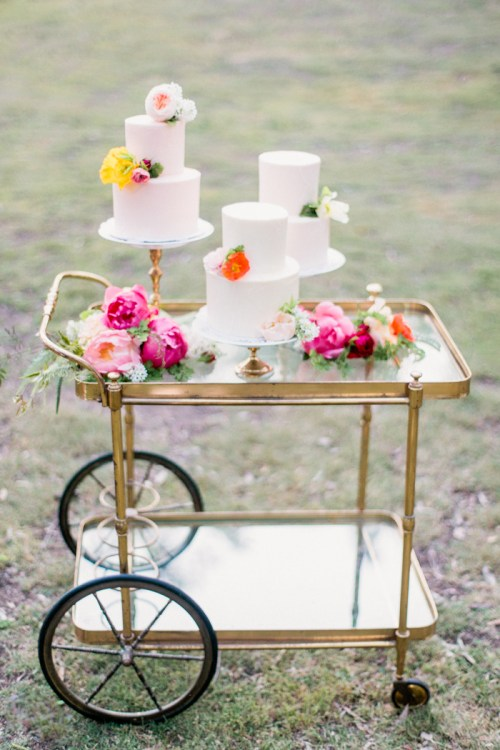 Wedding Cake Bar Cart
