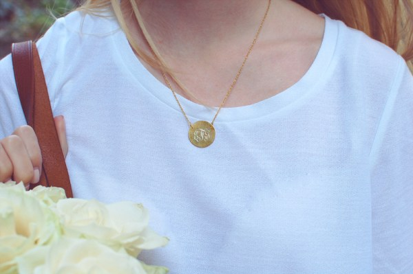 Gold Monogrammed Pendant