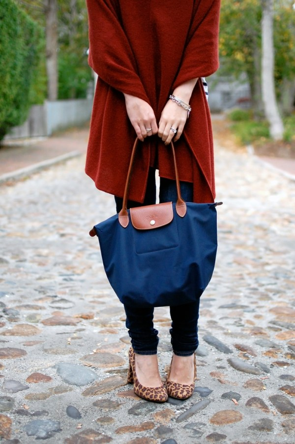 Navy Longchamp Small