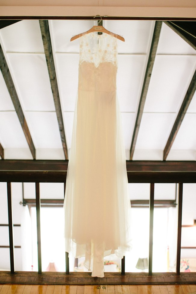 BHLDN Tulle Lace Wedding Dress