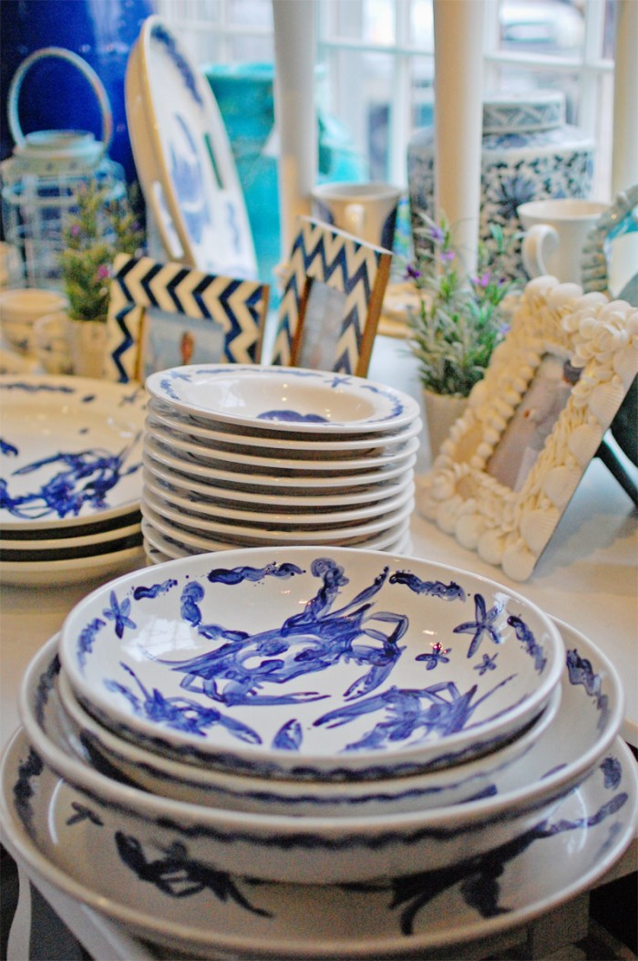 handpainted nautical dishware