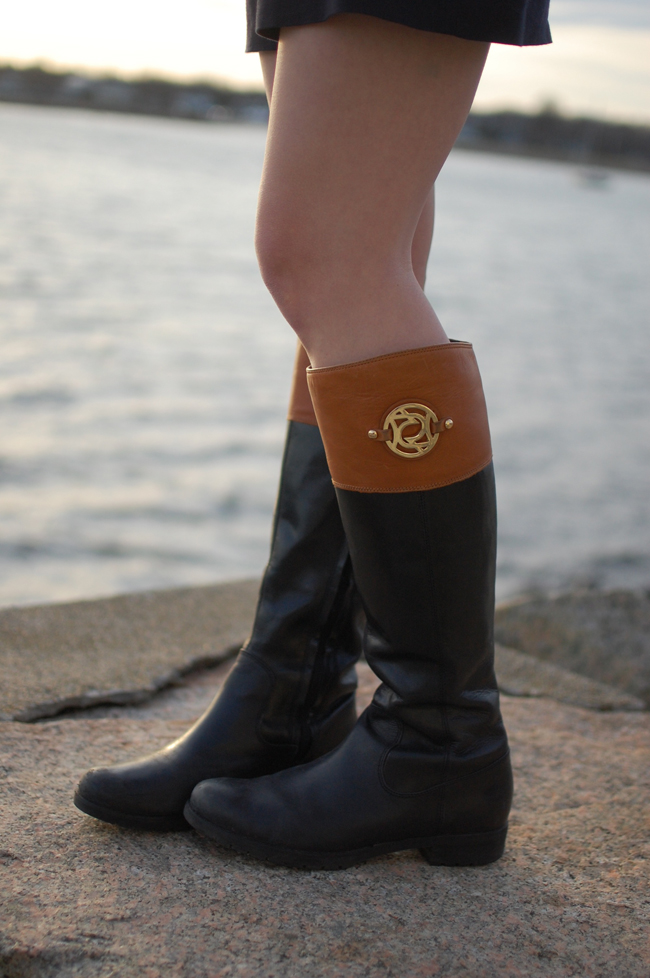 Brown Black Riding Boots