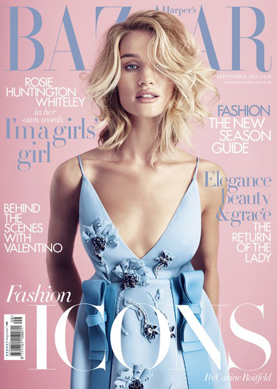 Harper's Bazaar September 2015 Rose Quartz Serenity