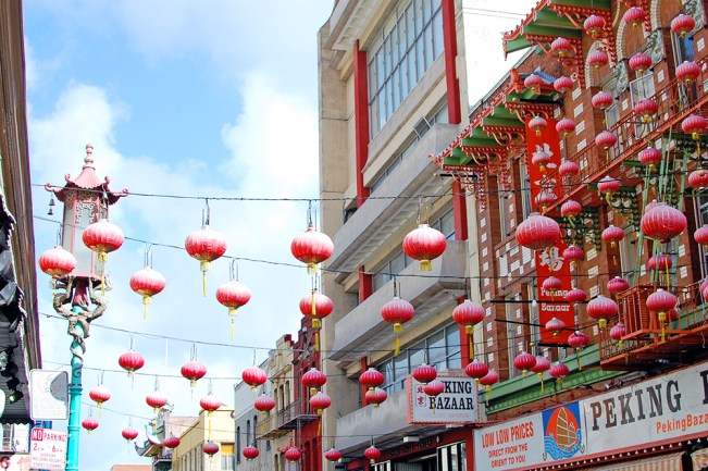 Chinatown lanterns photo San Francisco