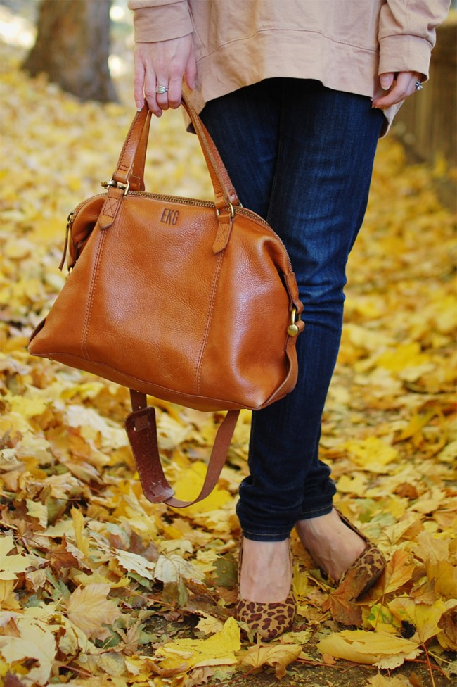 madewell leather satchel bag