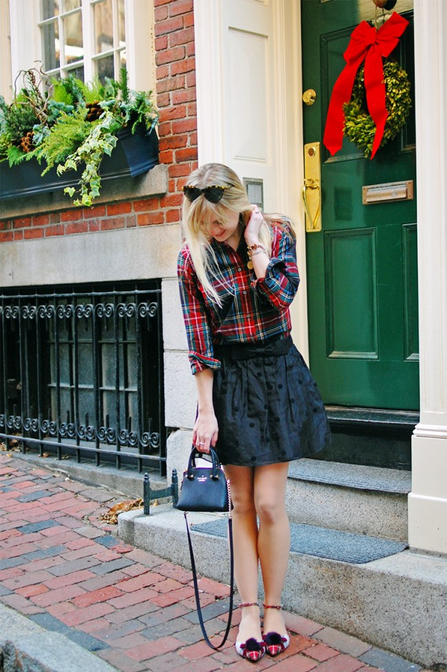 j crew christmas plaid shirt