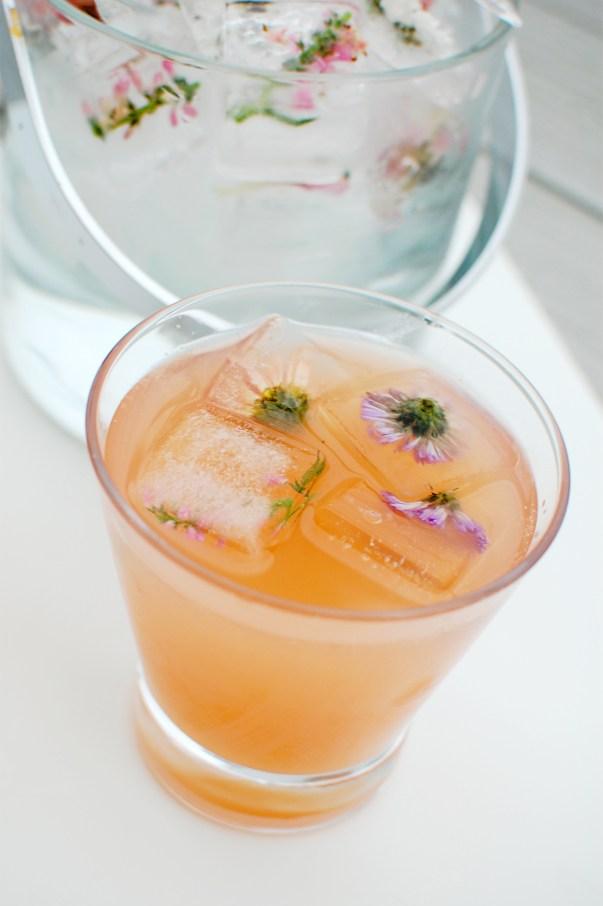 grapefruit rose champagne cocktail