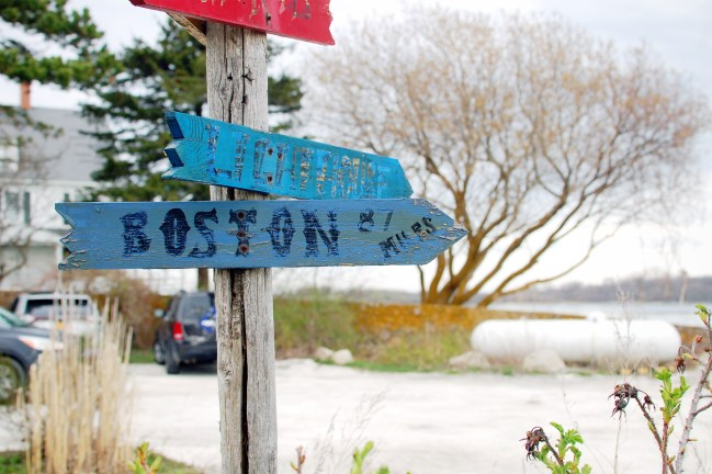rustic boston sign