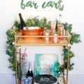 how to style a holiday bar cart