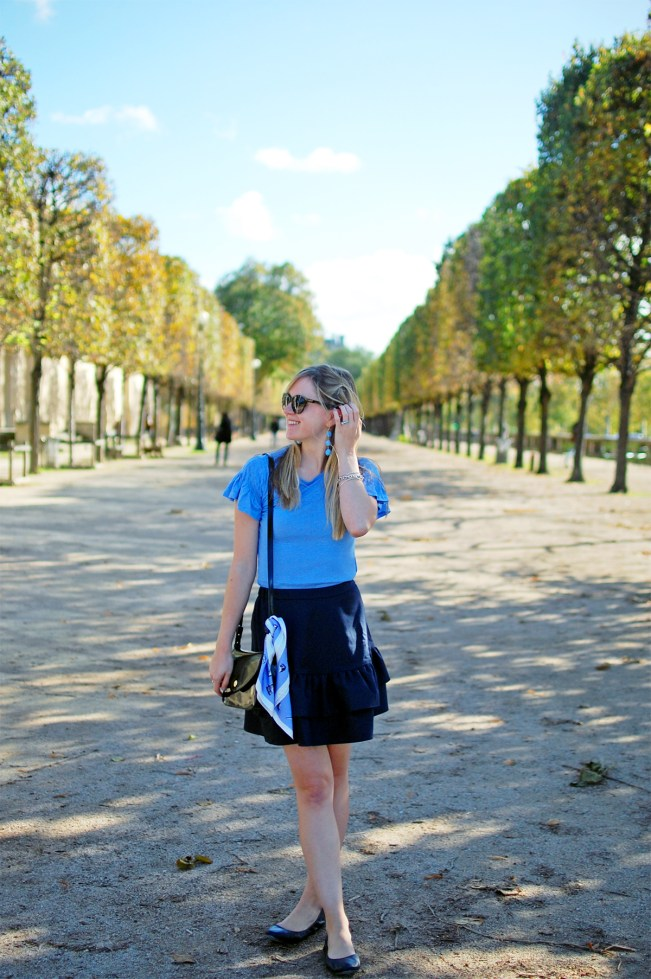 periwinkle and navy outfit