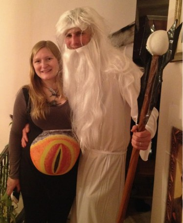 Eye of Sauron Maternity Costume and Saruman