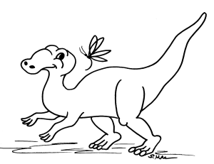 S.Mac's Dinosaur Coloring Page, Hadrosaur or Duckbill