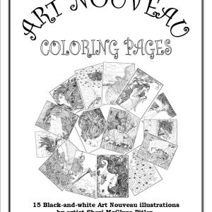 Cover Art, S.Mac's Art Nouveau Coloring Pages