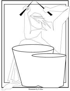 S.Mac's Abstract Coloring Page - Drummm