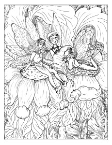 S.Mac's Chatty Fairies Coloring Page