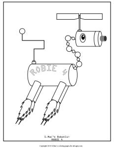 S.Mac's Robot Coloring Page, Robie 4
