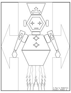 S.Mac's Robot Coloring Page, Robie 6