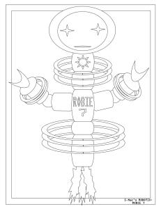 S.Mac's Robot Coloring Page, Robie 7