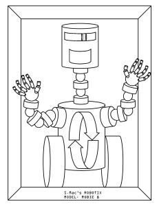S.Mac's Robot Coloring Page, Robie 8