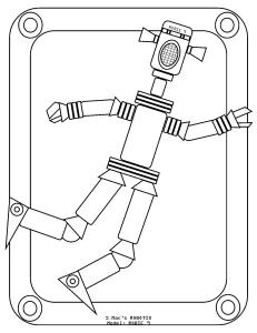 S.Mac's Robot Coloring Page, Robie 9