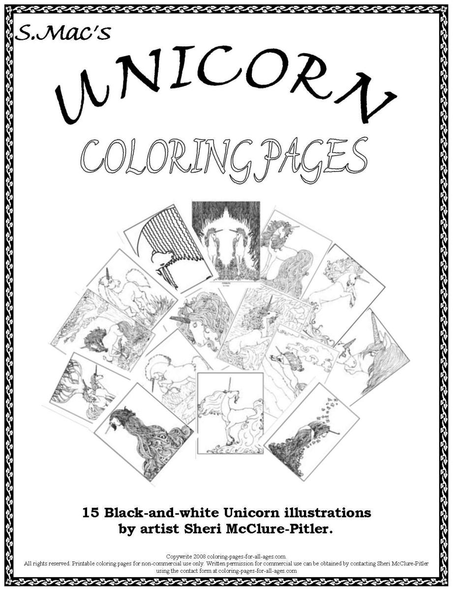S mac s unicorn coloring pages downloadable coloring for S mac coloring pages