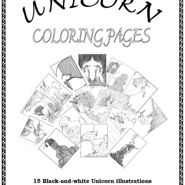 S.Mac's Unicorn Coloring Book Cover