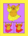 S.Mac's Pop Art Dancing Buddha 1 Coloring Page