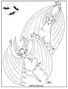 S.Mac's Halloween Coloring Page, Batty Ballet