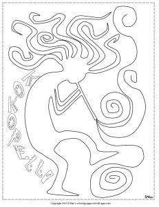 S.Mac's Kokopelli Coloring Page