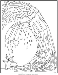 S.Mac's Monster Wave Coloring Page