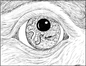 S.Mac's Surrealistic Coloring Page, Old Mariner's Eye