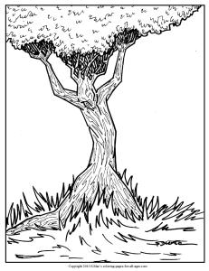 S.Mac's Surrealistic Coloring Page, Tree Spirit - Man