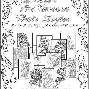 Cover of S.Mac's Art Nouveau Hair Styles Coloring Pages
