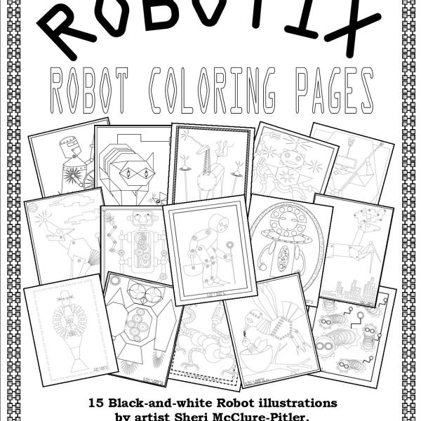 SMacs ROBOTIX Robot Coloring Pages Downloadable Book