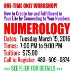 UPCOMING WORKSHOP!