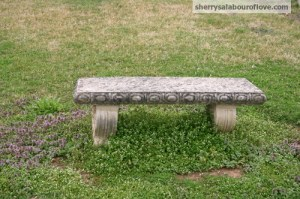 bench at Carnton plantation