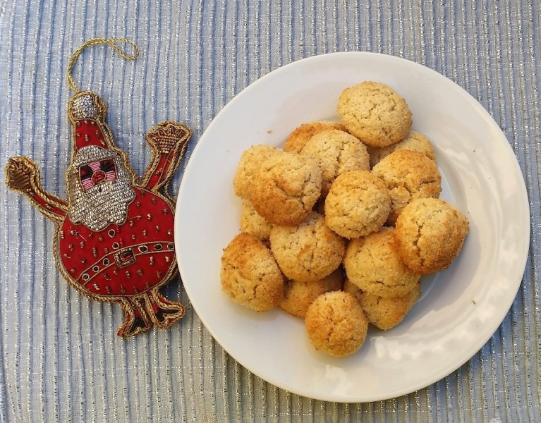 festive date coconut cookie