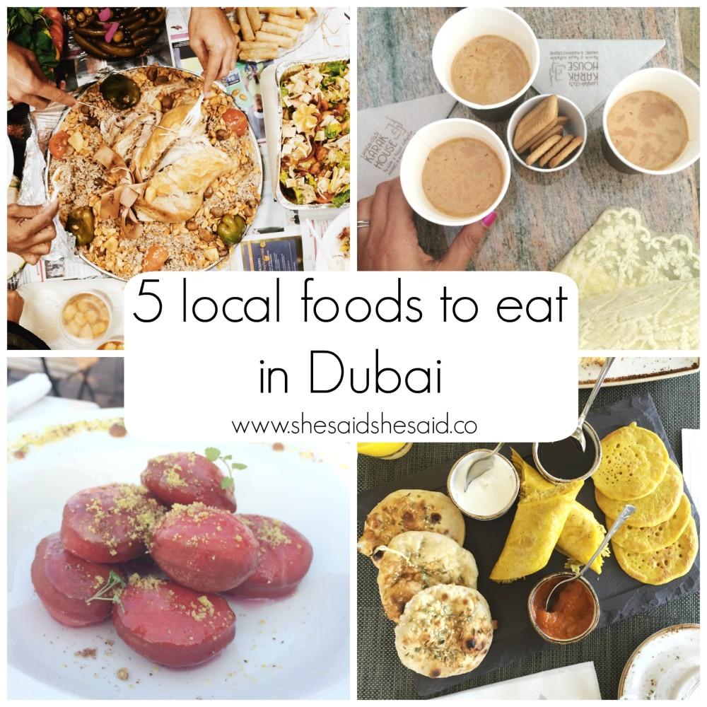 local food dubai