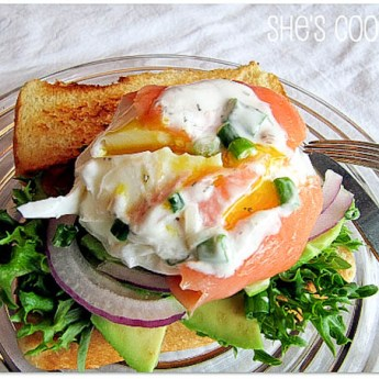 Salmon-Wrapped Poached Eggs