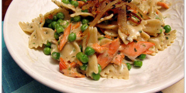 Salmon and Bowtie Pasta with Peas ed