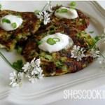 Zucchini Fritters - ShesCookin.com