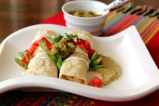 enchiladas, hatch chile sauce, chicken enchiladas