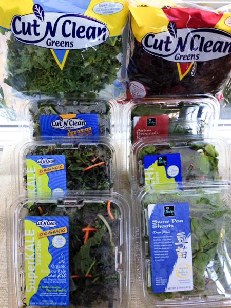 Cut n Clean Greens, Cut and Clean greens, organic greens