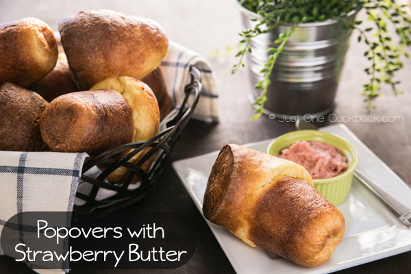 18 Brunch Recipes for Mother's Day, Popovers-with-Strawberry-Butter