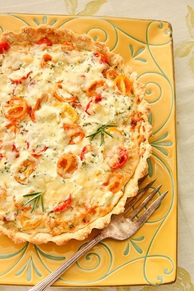 Herbed Heirloom Tomato Tart-7410