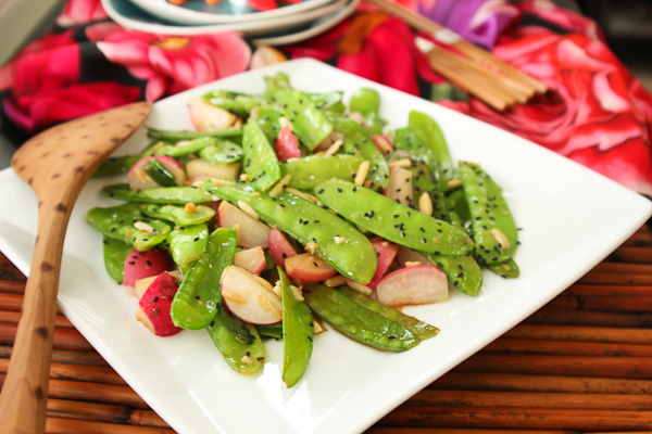 Snow Pea and Radish Stir Fry, Chinese New Year recipes, Lunar New Year recipes