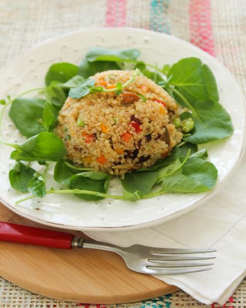 Quinoa, Edamame and Pepper Salad