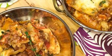 Slow Cooker Bison Lasagna