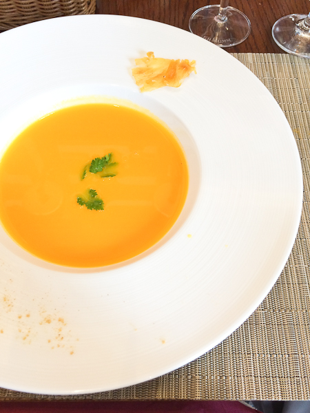 Detox Carrot, Ginger, Pineapple Soup