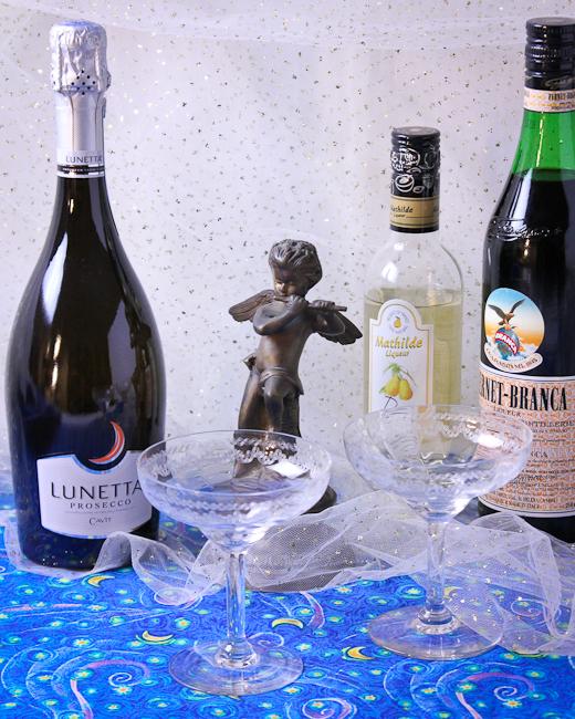 Lunetta Prosecco, Fernet Branca, Mathilde Poir liqueur